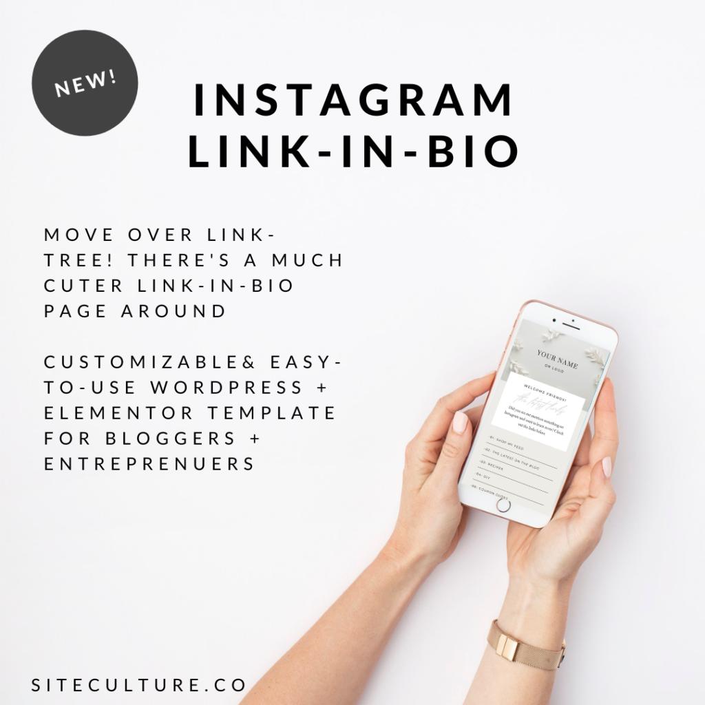 Elementor Instagram Links Page